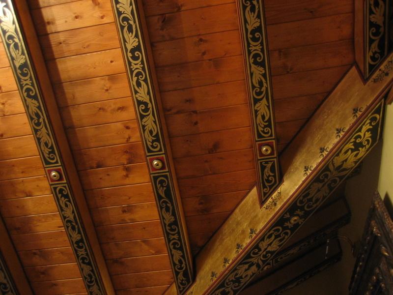 Via riviera trasformazione di un soffitto i cassettoni