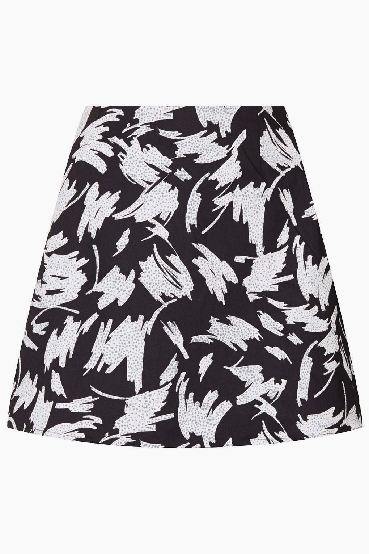 motel black white skirt