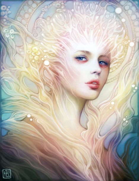 Anna Dittmann escume deviantart ilustrações belas singelas surreal mulheres Coral