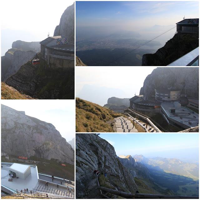 Stunning views from the top hill at Pilatus Kulm (Mount Pilatus) in Lucerne, Switzerland