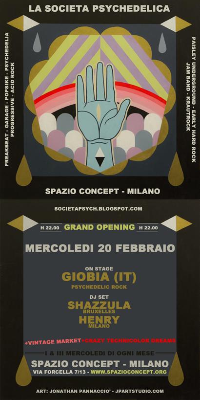 Società Psychedelica concerti allo Spazio Concept di Milano