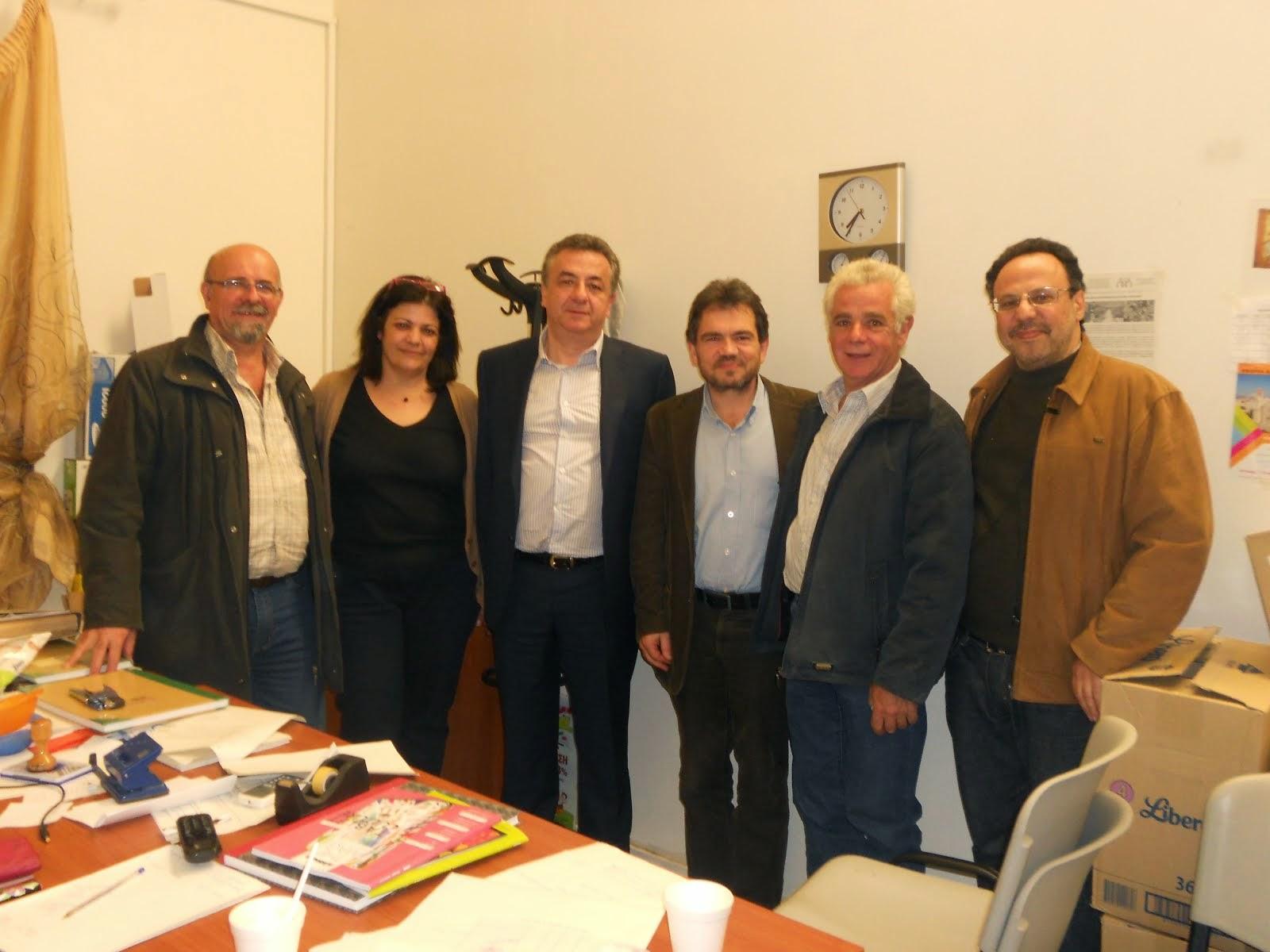 Συνάντηση με Περιφερειάρχη Κρήτης 25/3/2014