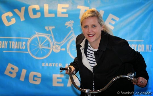 Annie Dundas, general manager, Hawke's Bay Tourism, national finalist in the New Zealand Association of Event Professionals Awards, for The Big Easy, a social  biking, cycling event around Hawke's Bay photograph