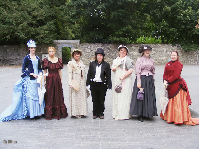 group shot Victorian and Regency costumes Castletown House