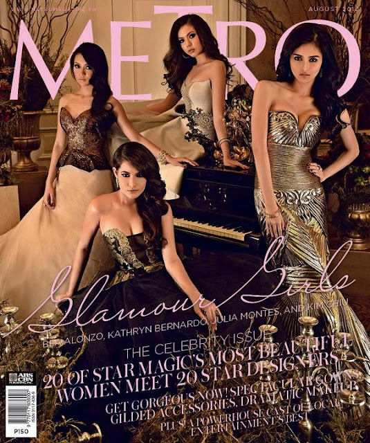 Bea Alonzo, Kim Chiu, Kathryn Bernardo and Julia Montes Cover Metro Magazine August 2012 issue