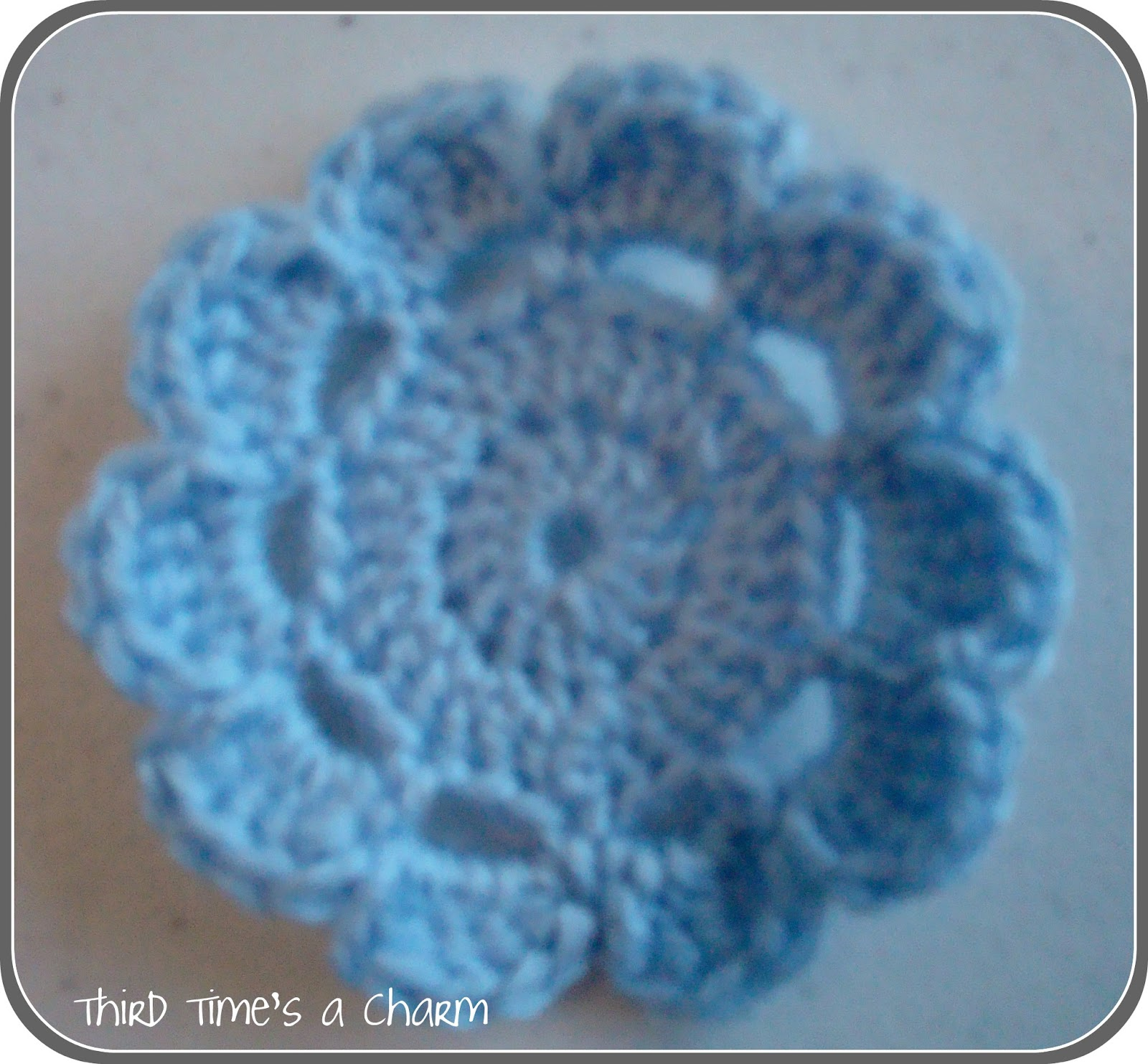 Quick Crochet Flower Pattern : Third Times a Charm: Tutorial - Crochet Flowers