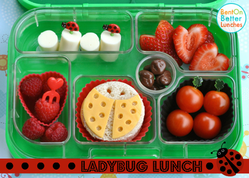 Ladybug theme Yumbox bento lunchbox