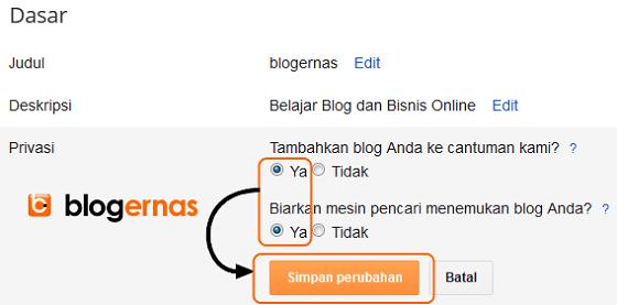 Pengaturan Awal agar Blog Blogger Terindeks Google
