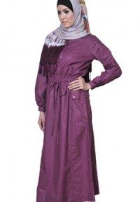 Manet Gamis - 3177 Ungu Anggur (Toko Jilbab dan Busana Muslimah Terbaru)