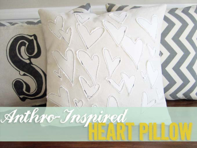 Free sewing tutorial for Anthro inspired pillow