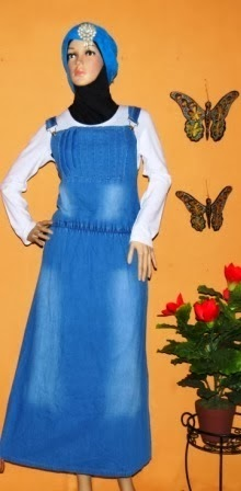 Gamis Overall Jeans Indonesia GJ1059