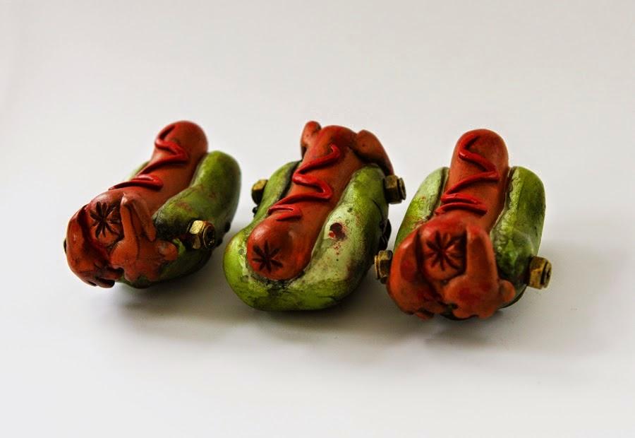 The Blot Says...: Franken Leverton Hot Dog Resin Figure by UME Toys