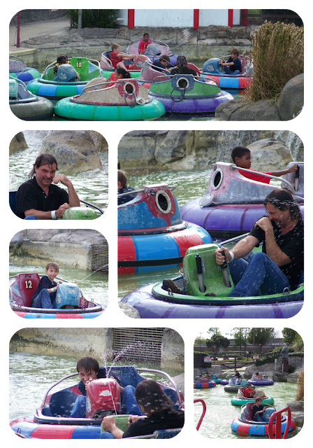 Joel & boys on Bumper Boats Mountasia