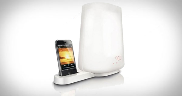Philips wake up light alarm clock with iPod dock