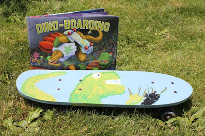Activity idea for DINO-BOARDING by Lisa Wheeler and Barry Gott via www.happybirthdayauthor.com