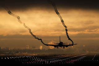 aircraft silhouette, aircraft landing silhouette, silhouette aircraft