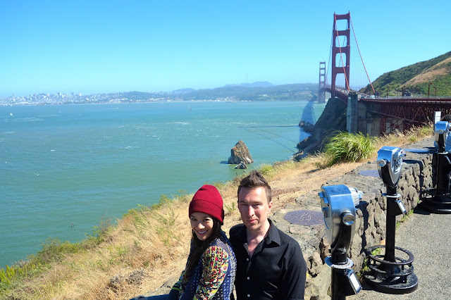 BCBG Novak jacket, best place to take photos of the Golden Gate Bridge