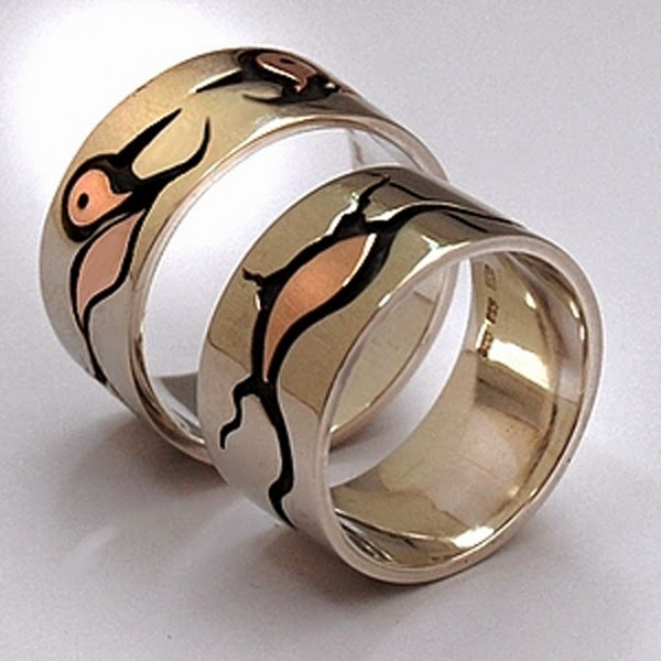 Ojibwe wedding rings Song Of The Loons Fisher Star Native