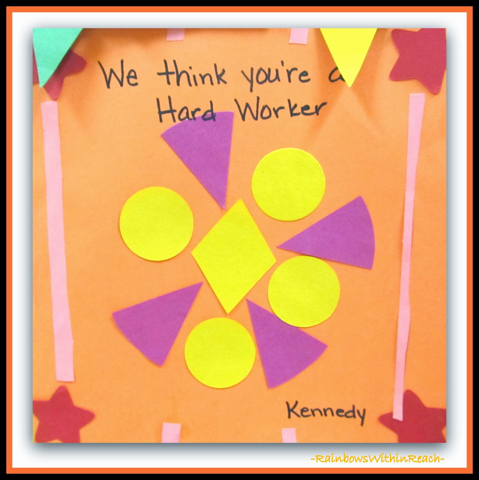 Affirmations! Patterns and Art in Kindergarten at RainbowsWithinReach