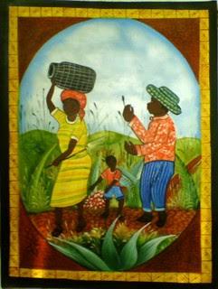 la famiglia: arte tipica repubblica dominicana