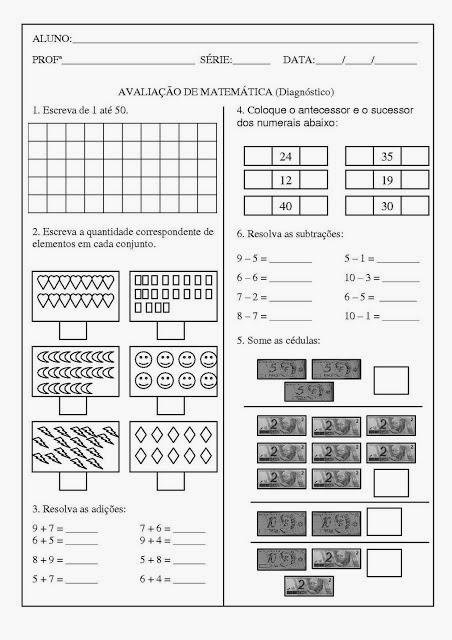 Atividade de matemática 2 ano