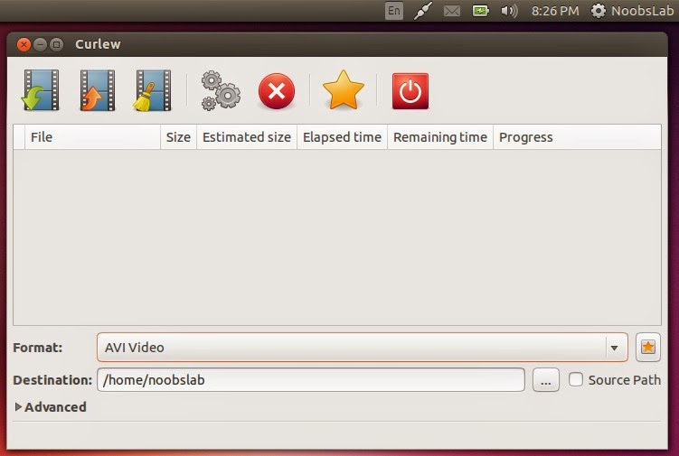 How to Install Curlew (Multimedia Converter) in Ubuntu 14.04 or Linux Mint 17