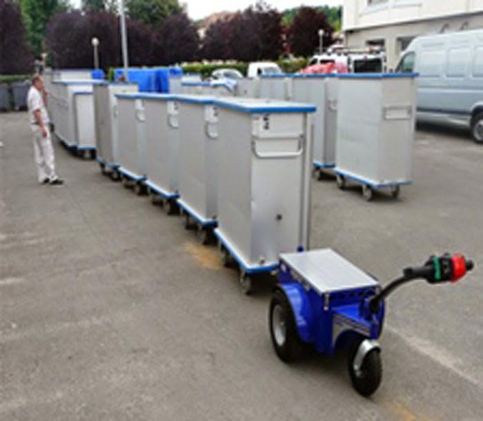 shopping cart pusher machine