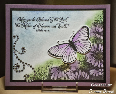 "ODBD ""Butterfly Corner"", ""Happy Birthday"", ODBD Custom ""Butterfly Die"" Customer Card of the Day Dianne Beans"