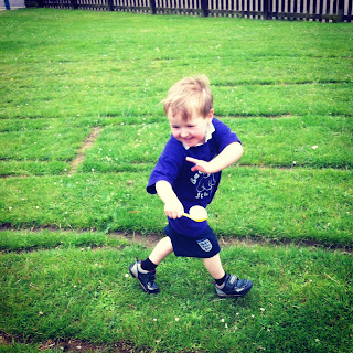 Isaac at Sports Day