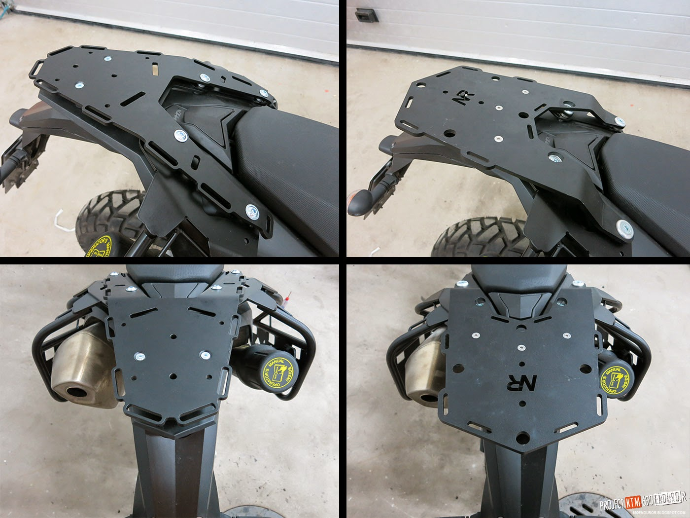 Perun Moto rear rack and and Nomadic rear rack comparison