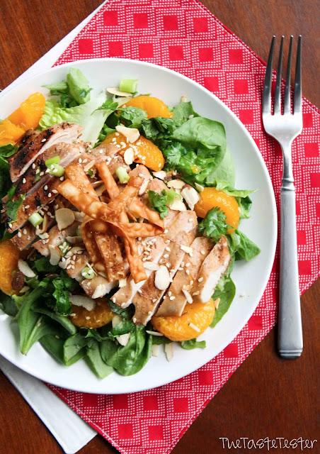 Asian Sesame Chicken Salad | www.the-taste-tester.com