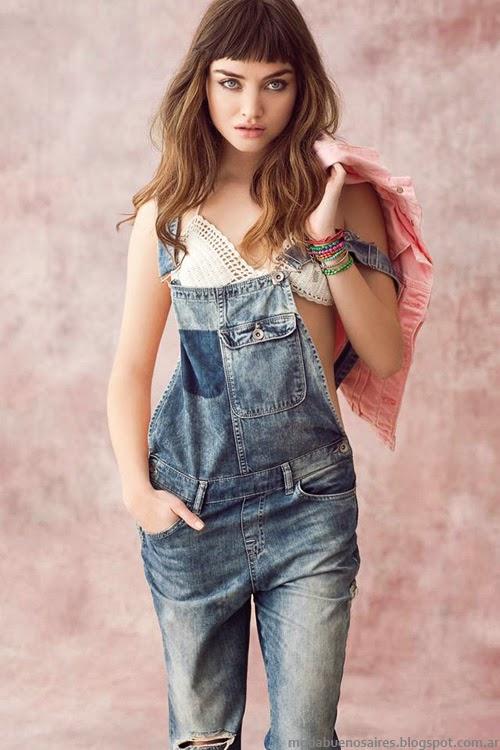 Moda jeans primavera verano 2014. Sweet indumentaria 2014.