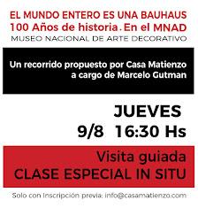 9-8 CLASE ESPECIALES IN SITU. Visita guiada al MNAD. A cargo de Marcelo Gutman