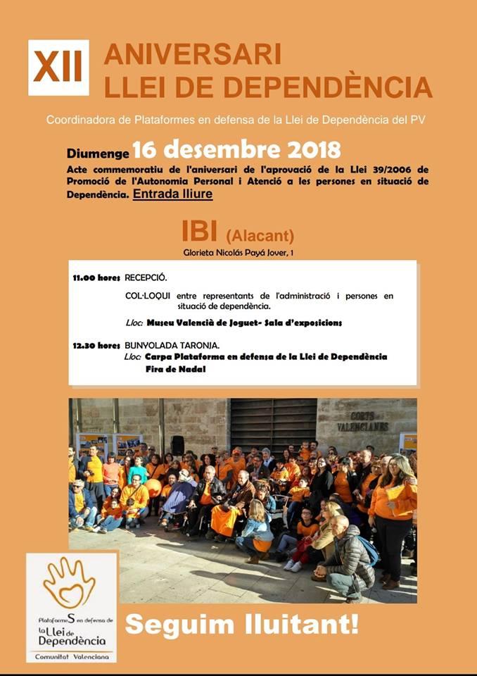 XII ANIVERSARIO DE LA LEY DE LA DEPENDENCIA