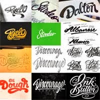 25 Custom Lettering logos