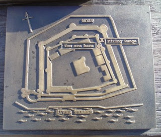 Executions at the Tower - map showing location of rifle range.  (copyright G.K. Jakobs).