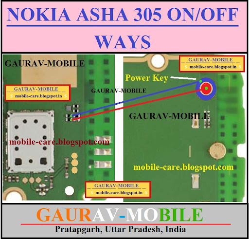 Nokia asha 305 on off ways