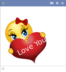 Love you Facebook sticker smileys