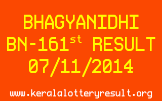 BHAGYANIDHI Lottery KN-31 Result 06-11-2014