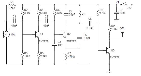 fm wireless microphone circuit amplifier circuit schematic projects rh wireless schematic blogspot com wireless microphone fm transmitter circuit Wireless Microphone Receiver Profesional