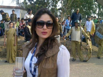 Kareena Kapoor on the sets of Satyagraha!