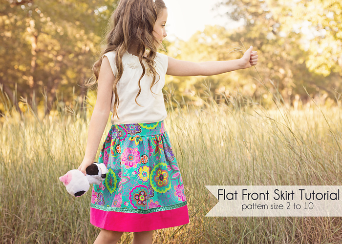How to sew a flat front skirt