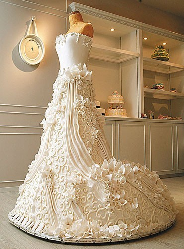 If you want a wedding cake like this then make sure you choose the right
