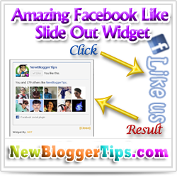 Add Amazing jQuery Facebook Like Slide Out widget To Blogger