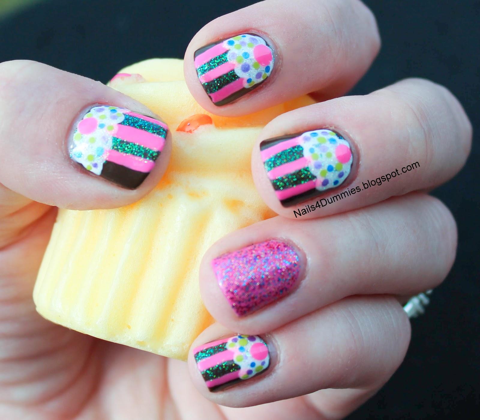 Cupcake Nails: Nails 4 Dummies!: CUPCAKES