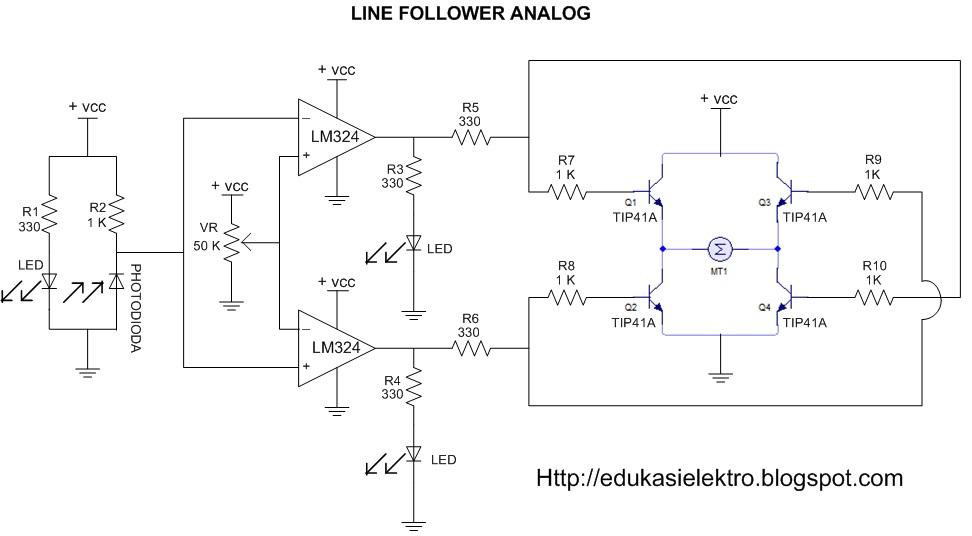 Agoos mei 2013 rangkaian robot line follower analog ccuart Image collections