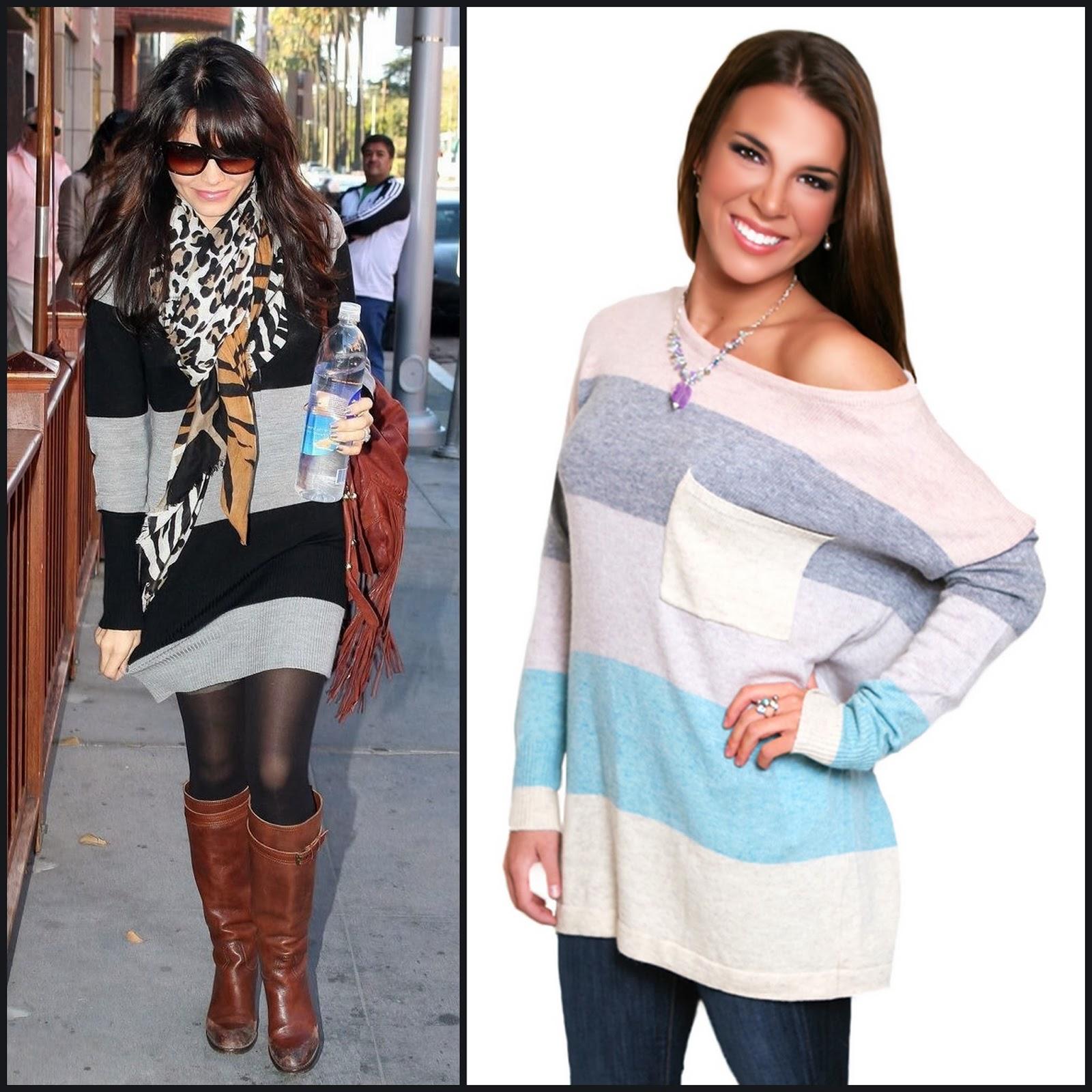 Jenna Dewan Tatum Style Slouchy Sweater