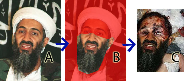fake osama bin laden Chas. fake osama in laden Chas. look