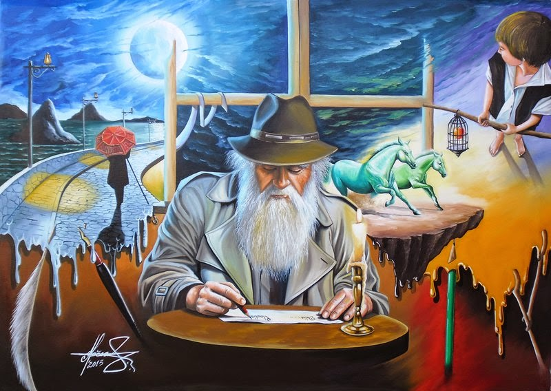 20-The-Story-Teller-Raceanu-Mihai-Adrian-Surreal-Oil-Paintings-www-designstack-co