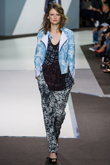 Crazy mix of patterns and florals for spring grunge